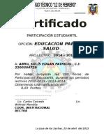 Certificados Campo de Accion