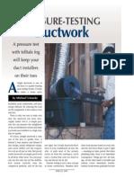 Pressure Testing Ductwork-Michael Uniacke