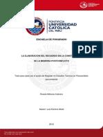 Elaboracion Memoria Peru