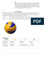 Voleibol Grado 6