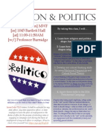 Religion & Politics (Fall 2015)