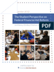 Student Perspective on Federal Financial Aid Reform