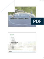 Method Statement of Overwatervilla and Walkway