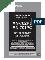 Digital Voice Recorder VN-702PC VN-701PC Instrucciones ES