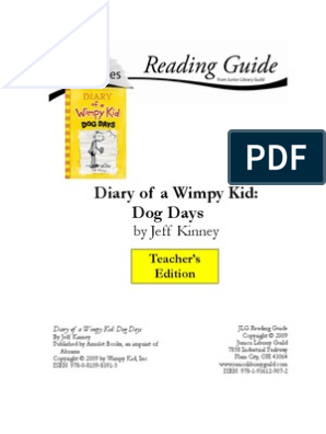 Wimpy Kid Dog Days Te Uide Reading Comprehension Library And Museum