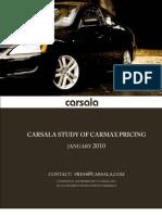 Carsala Study on CarMax Prices