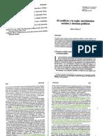 Melucci, Alberto. El Conflicto y la Regla:Movimientos Sociales y Sistemas Politicos