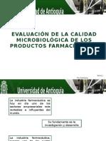 Evaluación de La Calidad Microbiológica de Los Productos