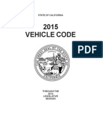2015 California Vehicle Code