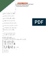 Exercícios de Revisão 1 - Matemática Aplicada - Professora Suselaine