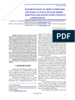 Design and Implementation of Object-Oriented Computer Software to Solve Second Order Ordinary Differential Equations With Constant Coefficients