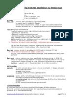 Résumé Écrit Ostéologie Membre Sup