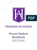 hilburn academy student-parent handbook for 2015-2016