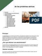 Electroforesis de Las Proteinas Sericas