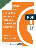 UPME Proyección Demanda Energía Eléctrica Marzo 2015