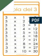 Tabla de Multiplicar Del 2 Al 9