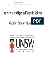 Dr Geoffery Morrison the New Paragigm in Forensic Science Pptpresentation