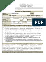 Formato Syllabus Filosofía Actual - 2015