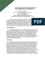 Determinacion MWD de Datos Reologicos