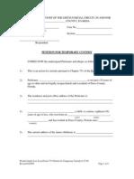 Sample Petition for Temporary Custody