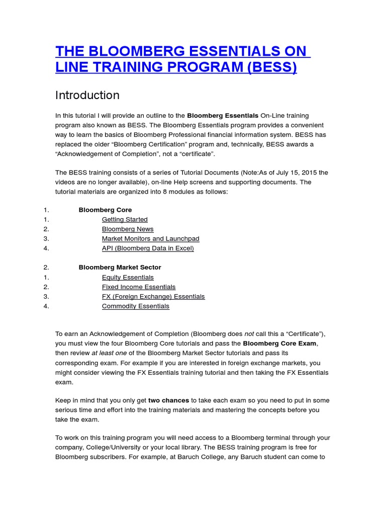 bloomberg essentials exam answers