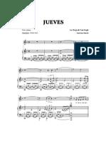 18667991 Partitura Jueves La Oreja de Van Gogh Piano y Voz