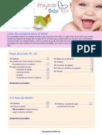 Lista de Compras Para El Bebe 769