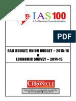 Rail Budget, Union Budget - 2015-16 (5 Pgs)