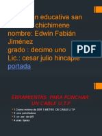 Institucion Educativa San Isidro de Chichimene TRABAJO EDWIN