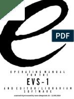 Evolution Evs-1 Manual