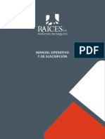 RAICES SA Manual Operativo y de Suscripcion