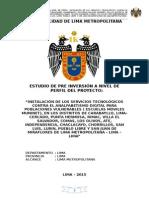 Proyecto de inversión Pública Instalación de Servicios Tecnológicos contra el analfabetismo digital