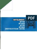 Mitsubishi MT160-180 Instruction Book Optimized