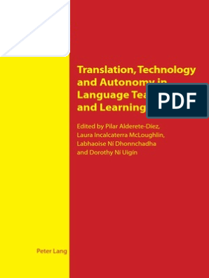 Translation Technology And Autonomy In Language Teaching