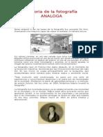 Historia de La Fotografía ANALOGA