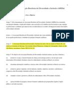 Estatuto da Associação Brasileira de Diversidade e Inclusão