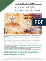 13. Las Fiestas de IHVH - Yom Kippur y El Año Jubileo