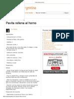 Pavita Rellena Al Horno