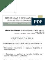 15 - Introdução à Cinemática - MU (Revisada)