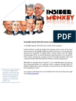 Greenlight Capital 2014 Q4 Investor Letter by Insider Monkey