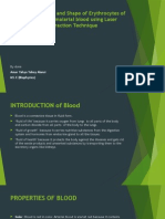 A Study on Size and Shape of Erythrocytes of normal and malarial blood using Laser Diffraction Technique1 by amar alansi