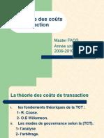 expo Théorie des Couts de Transaction  2010