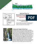 Umpqua National Forest Outreach Notice