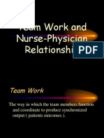 Team Work and Nurse-Physician Relationship
