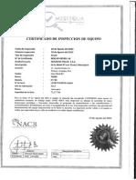 Certificdado Grua Terex RT780