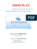 my pure water business plan- cotonou 25-08-2015