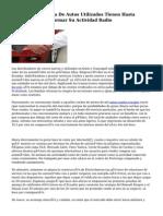 Los Patios De Venta De Autos Utilizados Tienen Hasta Noviembre Para Normar Su Actividad Radio