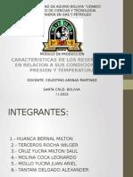 - Caracteristicas - De - Los - Reservorios - En - Relacion - A - Sus - Condiciones - De - Presion - y - Temperatura -