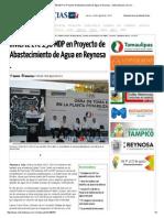 08-28-2015 Invierte ETC 158 MDP en Proyecto de Abastecimiento de Agua en Reynosa