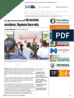 08-28-2015 en Pavimentación de Accesos Escolares, Reynosa Hace Más